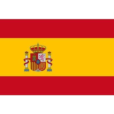 スペイン国旗(90cm×135cm)   B00EC0V2LK