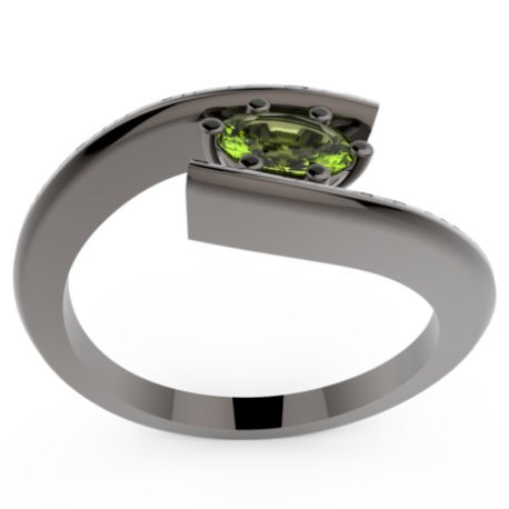 HABY OVAL Bagues Argent Peridot Vert 0,8 Ovale