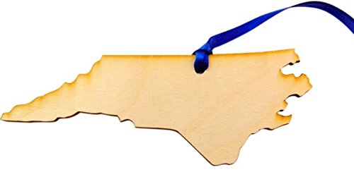 Westman Works North Carolina Christmas Ornament Wooden State Map Boxed Gift Handmade in The USA ()
