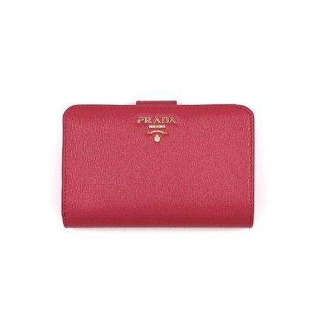 プラダ PRADA 折財布 二つ折り財布 レディース 財布 1ML225 VITELLO MOVE PEONIA [並行輸入品] B07BLT63QQ
