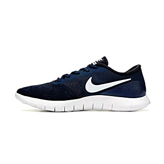 Nike Men's Flex Contact Running Shoe (10, Midnight Navy/White-Black)