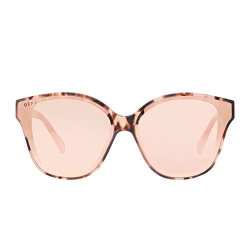 DIFF Eyewear - Piper - Women's Designer Cat Eye Sunglasses - 100% UVA/UVB [Polarized] (Himalayan Taupe)