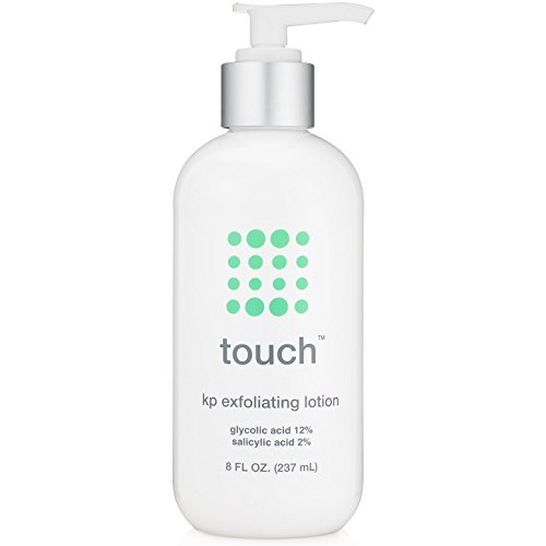 Touch Keratosis Pilaris Treatment with 12% Glycolic Acid & 2% Salicylic Acid - AHA & BHA Exfoliating Rough & Bumpy Skin Lotion - Moisturizing Cream Gets Rid Of Redness, KP, Body Acne - 8 Ounce