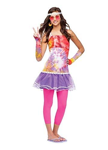 Retro Peace Daisy Costume - Age Of Aquarius Teen Costume Retro 60s Sixties 60's Girls Outfit Groovy Peace