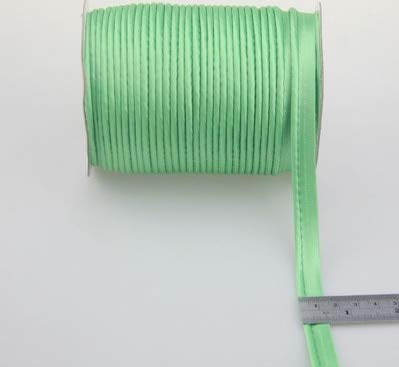Dalab 12mm Satin Bias Cord Polyester Glossy Bright Corded Piping Bias Binding Tape Width for Craft Sewing DIY Handmade Accessories - (Color: 38)