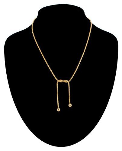 (Vintage Necklace Choker Twisted Snake Chain Gold Tone Horizontal Lariat Necklace For Women)