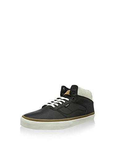 Vans Bedford Crackle Black/Marshmallow Mens Mid Top Sneakers (8 Mens) (Footwear Crackle)