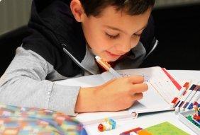 A5, a Rayas, Rojo, con un de Gel Pen en Azul LEGO 90320/ /Cuaderno