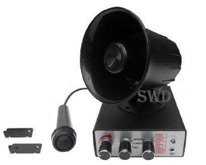 12V Car siren with PA /& microphone animal sounds and sirens