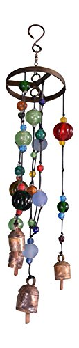 (The Galaxy Metal and Glass Beads Wind Chime, Medium)