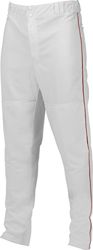Marucci Adult Elite Double Knit Piped Baseball Pant, White/Red, X-Large