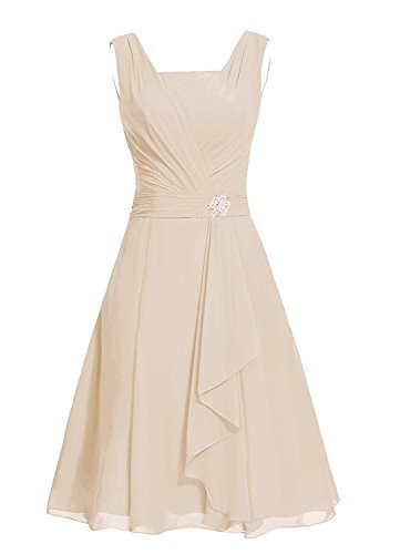Cocktail Short Champagne Pleated Homecoming Prom Gowns line Vintage XingMeng A Dresses 0vdq44w