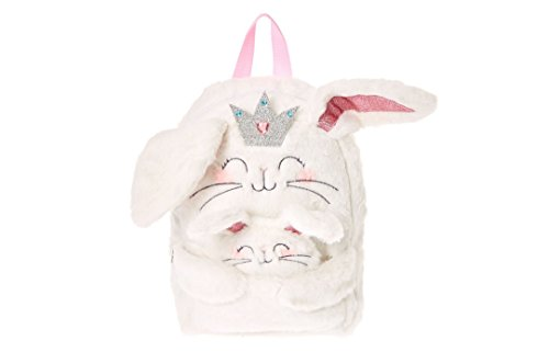 (Claires Kids Claire the Bunny White Plush Backpack)
