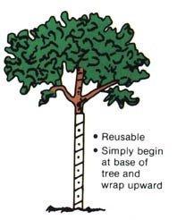 Walter E Clark Vinyl Tree Guard 00424, Brown, 24