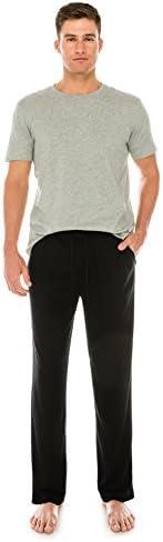 TINFL メンズ 各種繊維素材 パジャマ ポケット付き スリープパンツ 2MKLP-01-Black XL