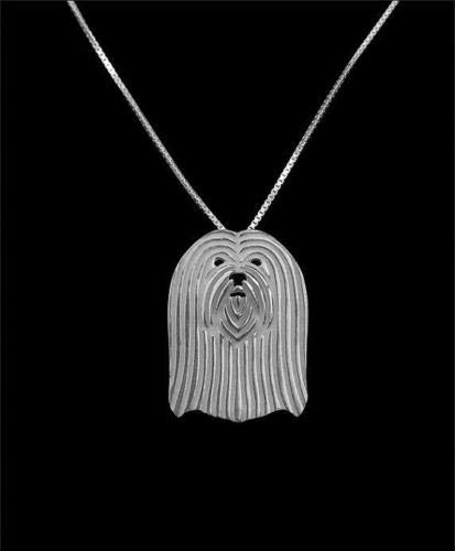 - Lhasa Apso Silver Charm Pendant Necklace, Dog Lover, Friend Gift, Gifts for Her