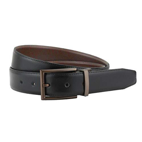 - Men's Reversible Spanish Leather Belt, Etched Buckle Detail, 3cm strap, British Belt Co. Busley