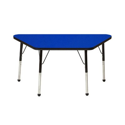 Creative Colors M3060TBK-SB Activity Table, Ball Glides, Standard Height, 24'' x 30'' Trapezoid, Maple Top, Black Edge by Creative Colors