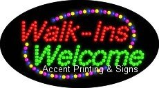 Walk-Ins Welcome Flashing LED Sign (High Impact, Energy Efficient)
