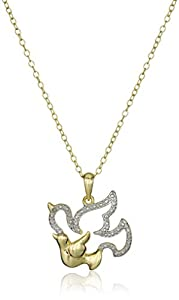 Gold-Plated Silver Animal with Baby Pendant Necklace, 18""