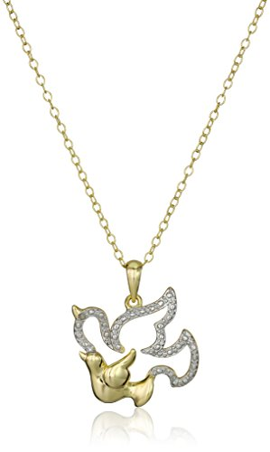 Gold Plated Silver Animal Pendant Necklace