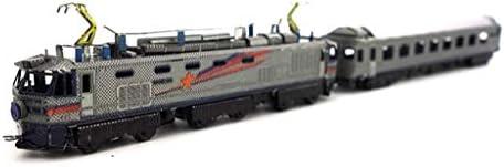 EF510電車-3D金属モデルキットパズル14+(シルバー/マルチカラー) (Color : Multicolor)