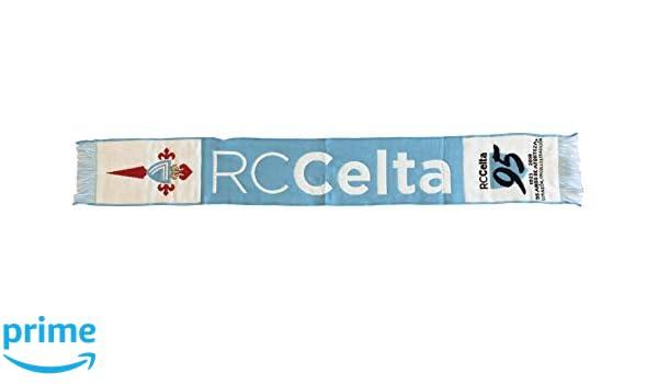 R.C Talla /Única Blanco//Azul Celeste Celta de Vigo Bufcel Bufanda Telar
