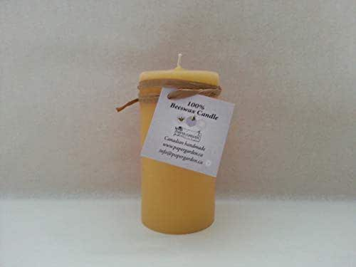 4 Beeswax Pillar Candles