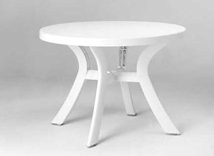 Tavolo tondo in resina cm bianco amazon casa e cucina