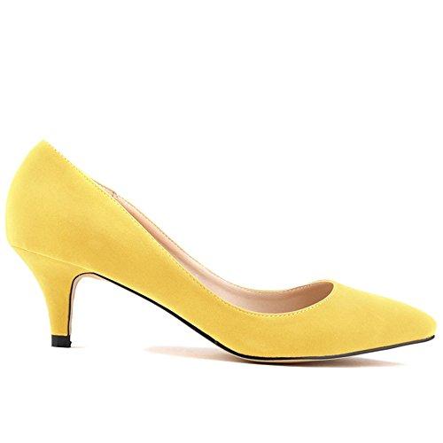 Scarpe Pump col giallo donna tacco Kunsto Giallo ZHRwx8qq