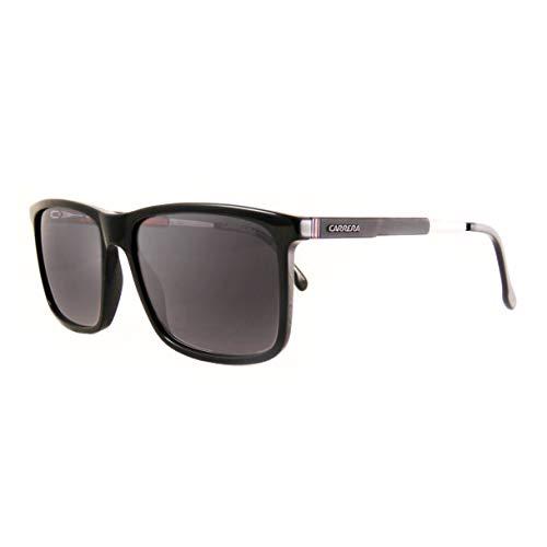 Carrera 8029/S Black/Dark Gray Gradient Lens Rectangular Unisex Sunglasses, ()