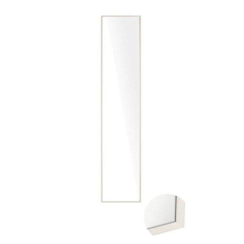 arne 壁掛けミラー 鏡 壁掛け 姿見 全身 日本製 木 木製 取り付け金具付き 幅32cm 高さ153cm 細枠 ウォールミラー 全身鏡 WM3215 ホワイトウッド B00T44ZKSKホワイトウッド