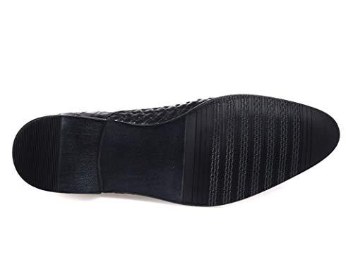 16040d28cd Esmoquin Calidad Hombres Hechos A Vestir Mano Alta formales Marrón De  Zapatos Bodas Para Shangwu Cuero Negocios Formales Semi KcJlF1
