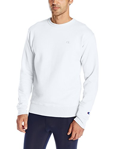 Champion Men's Powerblend Pullover Sweatshirt, White, Small