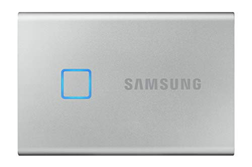 Samsung T7 Touch Portable SSD (MU-PC1T0S/WW) Silver, 1 TB
