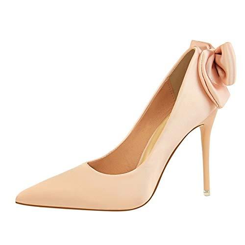 Pump Pink Black Stiletto Women's Satin Basic Heels Fall ZHZNVX Heel Blue Shoes Wine XSwq7