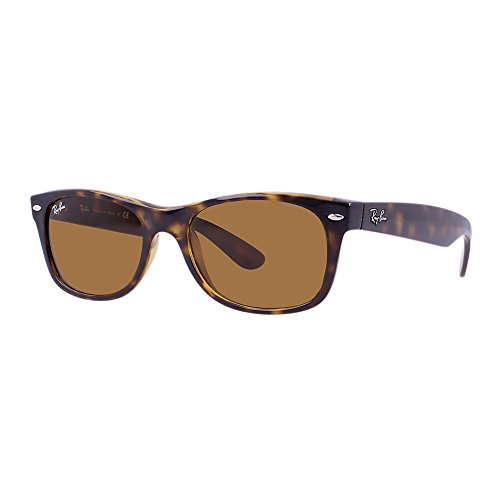 Ray Ban RB 2132 710 Light Havana B-15 Lens New Wayfarer Unisex Sunglasses - Ban New Brown Wayfarer Ray