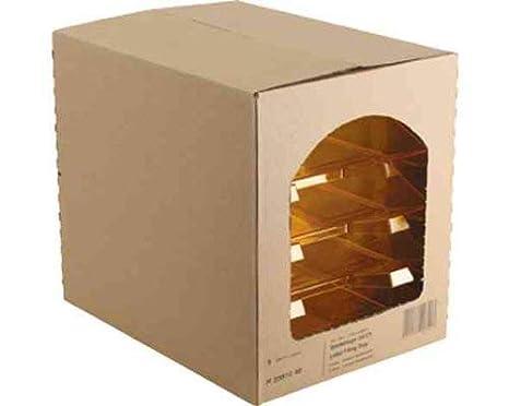 5x herlitz Briefablage DINA4 Kunststoff farblos transparent Ablagekorb Briefkorb