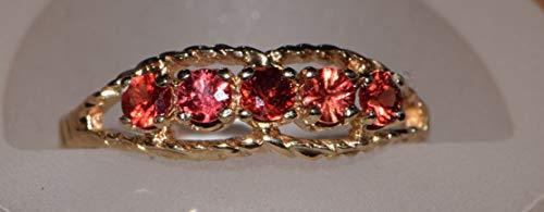 10k Yellow Gold Orange Sapphire Ring