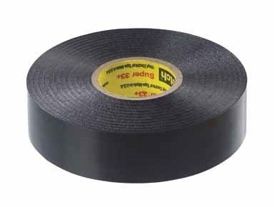"Scotch Vinyl Electrical Tape 3/4"" X 66 ' 600 V 221 Deg F Black"