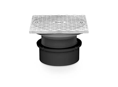 Oatey 74147 PVC General Purpose Cleanout with 6-Inch BR Cover and Square Ring, 3-Inch or 4-Inch by Oatey