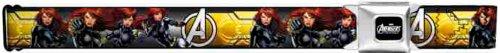 Marvel The Avengers Seatbelt Belt - Characters - Black Widow w/ Avengers Logo