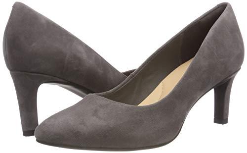 Sde Tacón Calla de Dark Rose Clarks Zapatos Gris Grey para Mujer Uvq7qIx