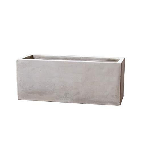 Rectangular Silicone Mold for Concrete Flower Pot Handmade Craft Bonsai Cement Planter - Rectangular Concrete