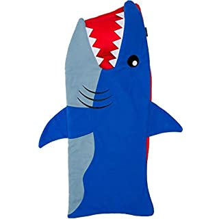 Silver Lilly Shark Toddler Nap Mat - 50 in. x 20 in. All-in-One Kid's Animal Shaped Sleeping Bag with Attached Blanket and Pillow, Rollup Design, Perfect for Kindergarten, Daycare, Sleepovers