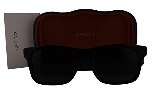 Gucci GG0008S Sunglasses Shiny Black w/Polarized Gray Lens 002 GG - Sunglasses Gucci Amazon