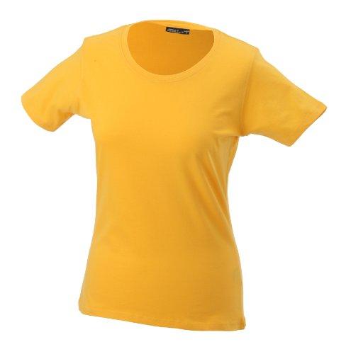 James & Nicholson  - Camiseta para mujer Amarillo (gold-yellow)