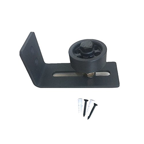 Adjustable Black Bottom Guide Stay Roller For Barn and Sliding Door l Heavy Duty Wall Mounted 100/% Steel l Ultra Smooth Quiet Guide l Fits Doors Up To 3 in Thick l Screws Included Montcalm