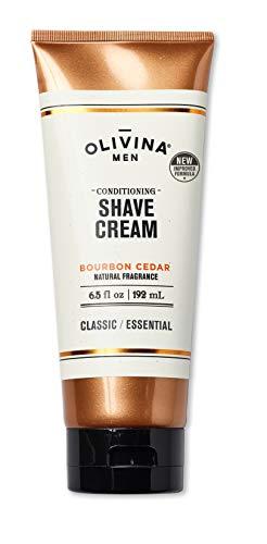 Olivina Men Conditioning Shave Cream, Bourbon Cedar, 6.5 fl. oz. (Conditioning Shave Cream)
