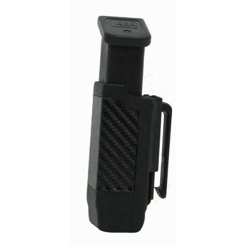 BLACKHAWK! Single Stack Mag Case with Carbon Fiber Finish for 9 mm, 10mm, .40 Cal, and .45 Cal (Blackhawk Carbon Fiber Mag Pouch)